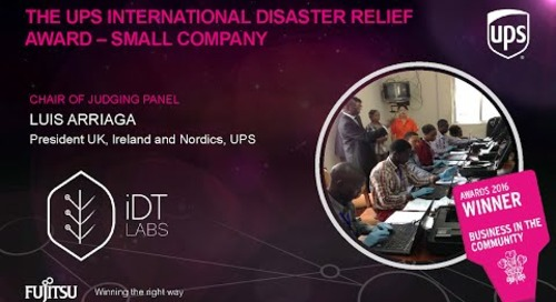 The UPS International Disaster Relief Awards - iDT Labs - Judges Comments