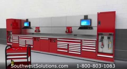Auto Service Department Technician Tool Storage Drawer Cabinets & Workstations