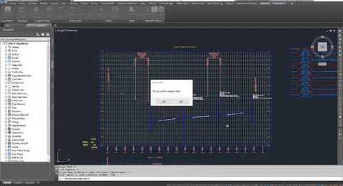 IMAGINiT Utilities for Civil 3D: Pipe Elevation Tool