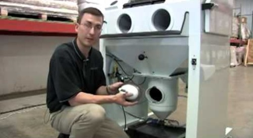 CrystalBlast Maintenance Replacing Abrasive