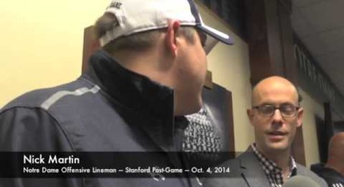Notre Dame OL Nick Martin After Win Over Stanford - 10/4/14