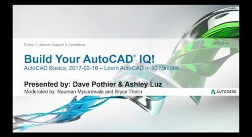 Webinar: Learn AutoCAD in 50 Minutes | AutoCAD
