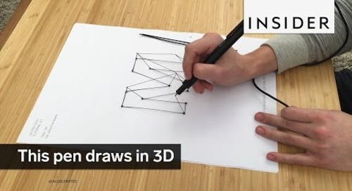 This pen is actually a 3D printer