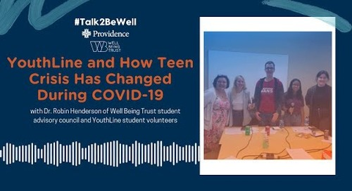 Talk2BeWell: YouthLine and how teen crisis has changed during the COVID-19 pandemic