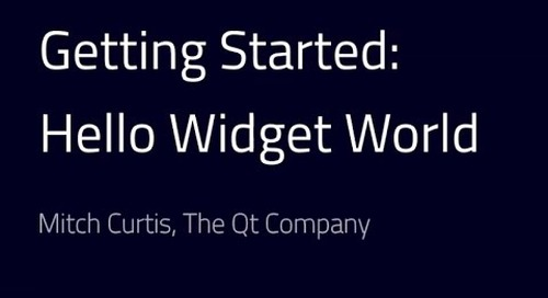 Getting started with Qt: Hello Widget World