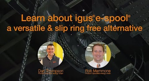 Learn about igus® e-spool - a versatile & slip ring free alternative