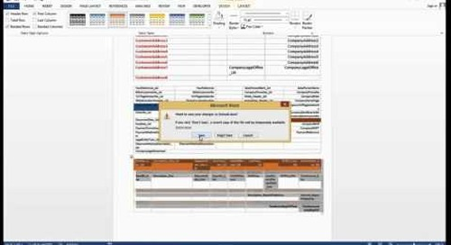 How Do I Develop Word Layouts in the Development Environment in Dynamics  NAV 2015