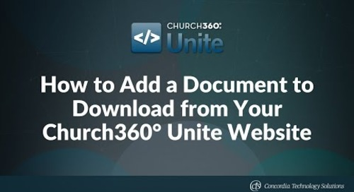 How to Add a Document to Download from Your Church360° Unite Website