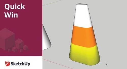 [Quick Win] Creating partially scaled objects in SketchUp