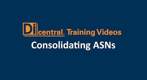 Consolidating ASNs