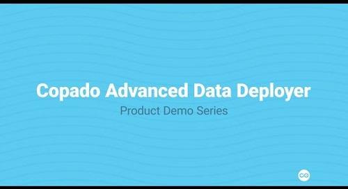 Copado Data Deploy to Manage Data  | Copado