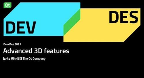 Advanced 3D features – Dev/Des 2021