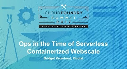 Ops in the Time of Serverless Containerized Webscale