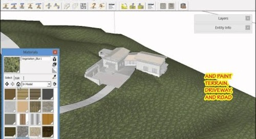 Vali Architects: Setting up a Project in Sketchup - Part 3 Site Design