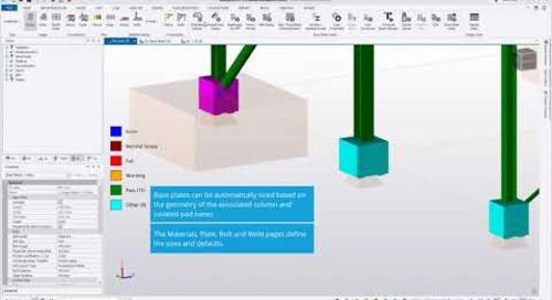 Simple Column Base Plate Workflow and Design