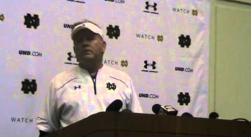 Brian Kelly Press Conference (10-9-14)