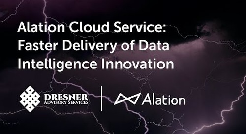 Alation Cloud Service: Faster Delivery of Data Intelligence Innovation