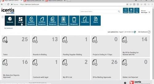Demo Vieo | ICM Sourcing app