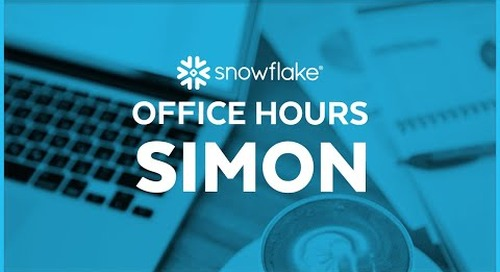 Snowflake Office Hours: Simon