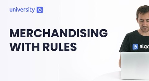 Algolia Build 201 - Merchandising with Query Rules