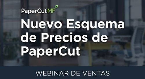 Nuevo Esquema de Precios de PaperCut