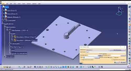 Using Gear Joint to Create a Kinematic Clock