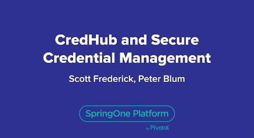 CredHub and Secure Credential Management