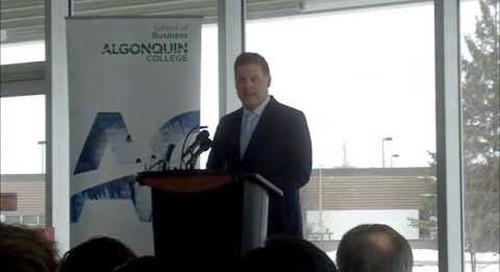 John Baird speaks at Algonquin College - 4 minutes.