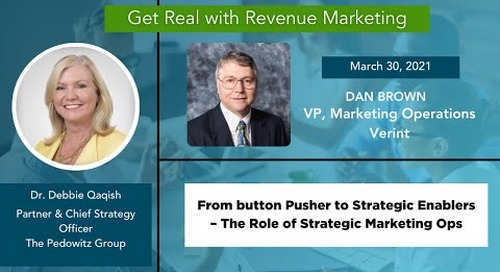 The Role of Strategic Marketing Operations with Dan Brown