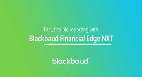 Blackbaud Financial Edge NXT In a Flash: Reporting
