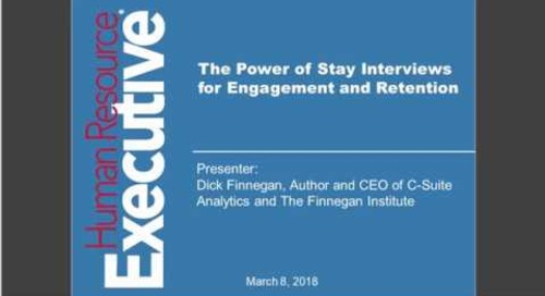 The Power of Stay Interviews for Engagement and Retention