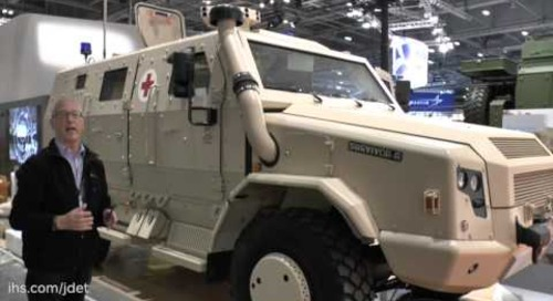 DSEI 2015: Rheinmetall MAN Military Vehicles – Survivor R protected field ambulance configuration