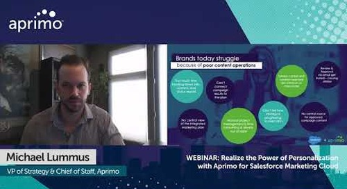 Aprimo + Salesforce: The Potential of Customer Centricity