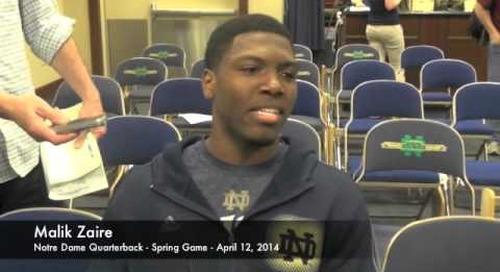 Malik Zaire Talks Notre Dame Spring Game