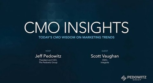 CMO Insights: Scott Vaughan, CMO, Integrate