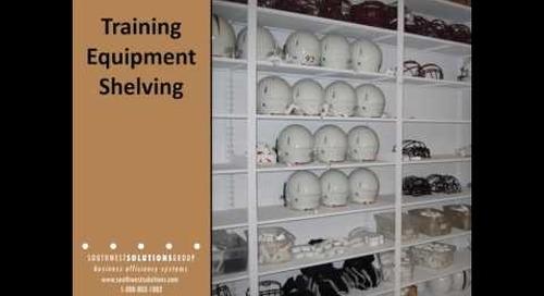 Mobile Athletic Equipment Storage Racks Football Gear Shelving