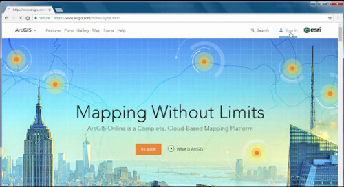 Performing Analysis in ArcGIS Online