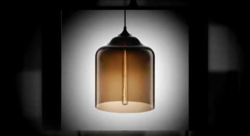 Bell Jar Modern Pendant Light