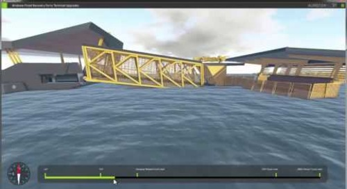 Brisbane Flood Resilient Ferry Terminal Design Simulation and 3D Modelling