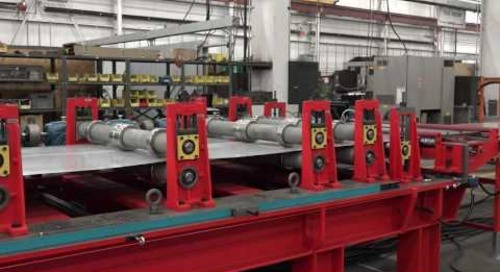 Samco Machinery Roof Deck and Panel Line with Ridge Cap Bending and Panel Curving Unit