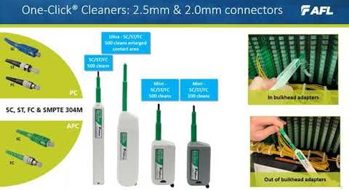 One-Click®  Fiber Optic Connector Cleaners