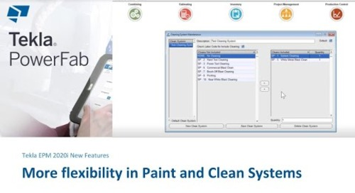 More Flexibility for Paint and Clean Systems in Tekla EPM 2020i