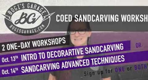 Intro to Decorative Sandcarving & Sandcarving Advanced Techniques