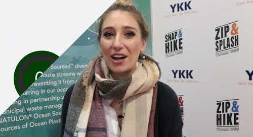 Ermina Koutavas introduces YKK's Eco-Friendly Finishes