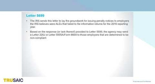 What is IRS Letter 5699 - Webinar - Trusaic