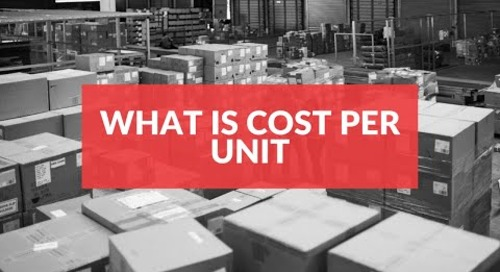 What is cost per unit?