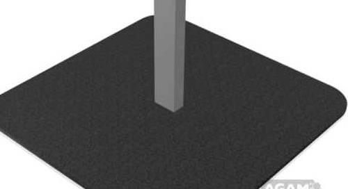 AGAM Square 15-inch Floor Base Using 625 Stem 104