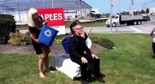 Mike Zahra, President, Staples Advantage Canada Ice Bucket Challenge