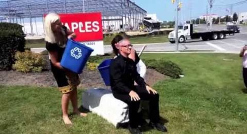 Mike Zahra, President, Staples Advantage Canada Ice Bucket Challenge