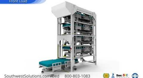 Vertical Hospital Bed Stackers Gurneys Cribs Stretchers